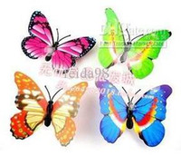 Wholesale Three Dimensional Butterfly Fridge Magnets - Wholesale - - 100 Pcs Small Size Colorful Three-dimensional Simulation Butterfly Magnet Fridge Home Decoration