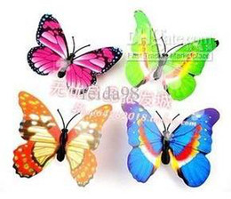 Wholesale Small Colorful Butterflies - Wholesale - - 100 Pcs Small Size Colorful Three-dimensional Simulation Butterfly Magnet Fridge Home Decoration