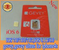 Wholesale Sim Iphone4s - Originsl sim gpp card GEVEY ultra S Unlock card IOS7.0.4 ios 7.0.1 ios 7.0.3 ios 5.1 to ios 6.0,6.0.1,6.1,6.1.2,6.1.3,6.1.4 for iphone4s