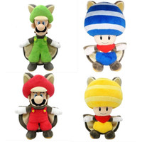 "Wholesale Mario Squirrel Plush - Hot sale Super Mario Wii U Musasabi Flying Squirrel Mario 9.5"" Plush Figure Doll 4 styles can choose"