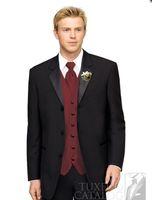 Wholesale Cheap Men S Suit Vests - wedding the groom wear evening dress custom cheap high quality men's evening vest suit black color clothes