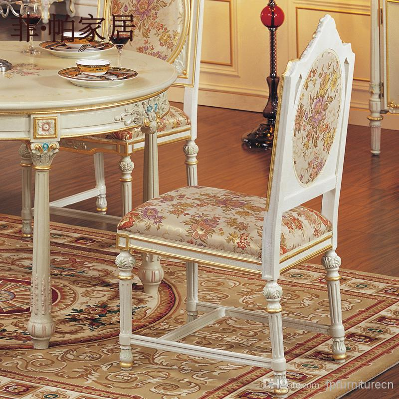 Tuscan Style Dining Room Furniture: 2018 Italian Style Dining Room Furniture Hand Carving Leaf