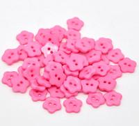 ingrosso rosa pulsanti-BJ-105 Spedizione Gratuita 300 pz Fiore Rosa 2 Fori Bottoni Da Cucire In Resina Scrapbooking 12x12mm Knopf Bouton