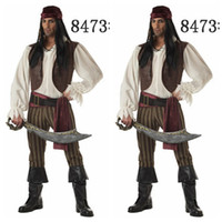 Wholesale Mens Sexy Apparel - Halloween Sex Set Costumes For Men Pirate Exotic Apparel Sexy Clothes Cub Wear Role Play Brand New 2015 Hot Sale Sex Set Mens