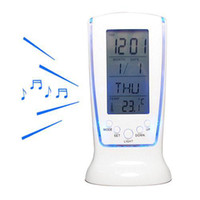 Wholesale Digital Thermometer Alarm Home Clock - S5Q Home Portable Digital Thermometer Calendar LCD Backlight Alarm Room Clock AAAARI