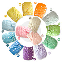 Hot sale cheapest PUL Plain solid Color Baby Pocket Cloth Diaper cover 10 pcs with 10 pcs Bamboo insert