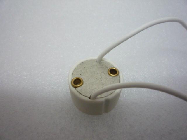 GU10 Base Soquete do Fio Conector de Cerâmica Adaptador de GU 10 Soquetes Para GU10 Luzes Holofote LED CFL Iluminação de halogéneo DHL MOQ200