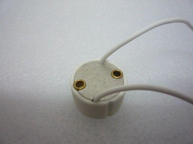MOQ50 GU10 BASE LAMP Hållare Socket Trådkontakt Keramik GU 10 Sockets för GU10 Glödlampa Spotlight LED CFL Halogen Lighting