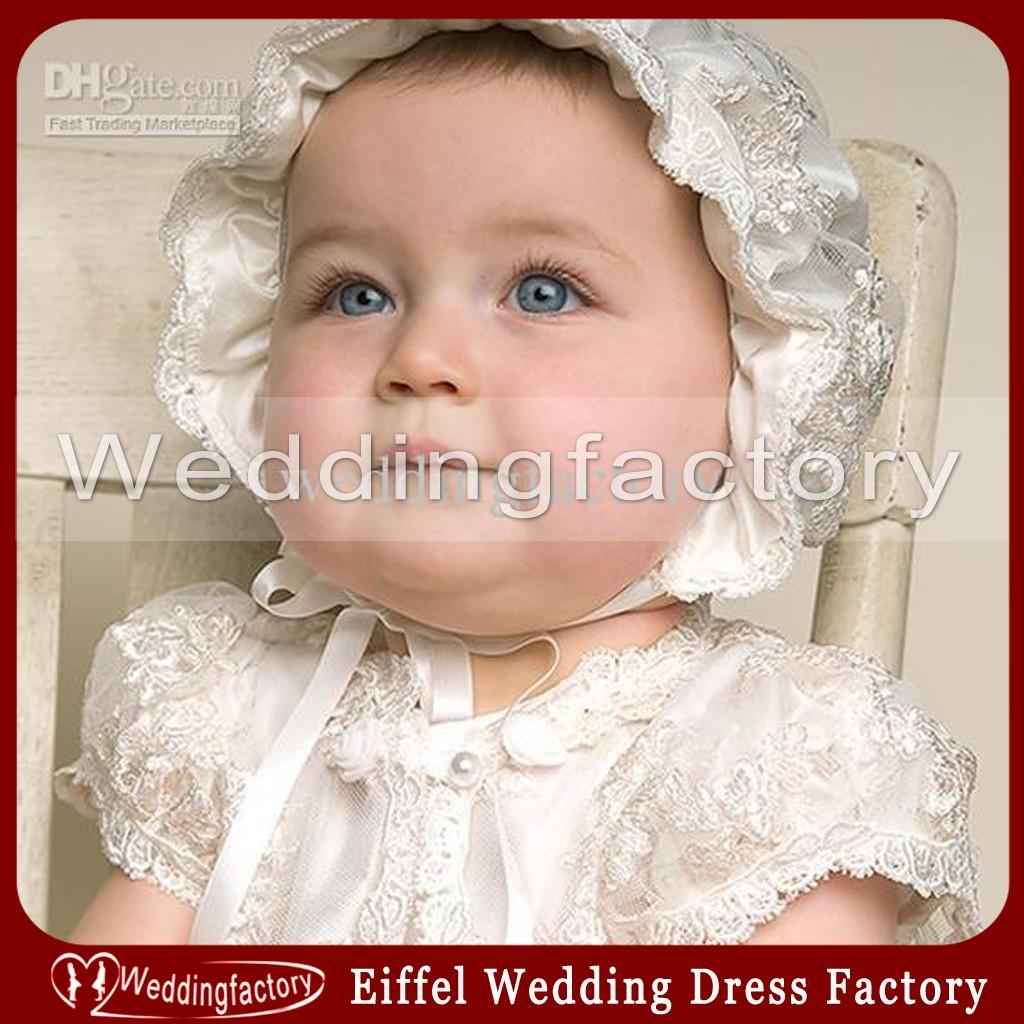 Cheap High Quality Spring Lovely Christening Baby S Hat Cute Baptism  Children S Bonnet Beautiful Lace Pattern With Ribbon UK 2019 From  Weddingfactory 60767dff5e0