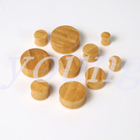 Wholesale Ak Sale - Hot sale 2015 new fashion design Free shipping bamboo wood ear plugs tunnel ear gauge piercing Body Jewelry size 8-28mm AK-359