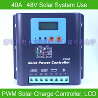 40A 48V PWM Solar Charge Controller, с жидкокристаллическим дисплеем, напряжением и емкостью аккумулятора, HiQuality Display Charging for Off Grid PV Capacity