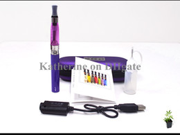 Wholesale Dhl Ce5 Wick - eGo CE5 Kits E Cigarette eGo-T Battery 650mah 900mah 1100mah CE5 Invisible Wick Atomizer in a Zipper Case Various Colors Instock DHL Free