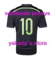 discount football jersey achat en gros de-Qualité thaïlandaise personnalisée Espagne Maillot Extérieur, Espagne 2014 Maillot WC, Espagne (10 FABREGAS) 2014 Coupe du Monde Noir Jersey Maillot Discount Onlinestore