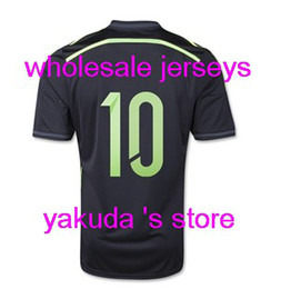 customized cups 2019 - Thai Quality Customized Spain Away Jersey, Spain 2014 WC Jersey, Spain (10 FABREGAS) 2014 World Cup Black Soccer Jersey