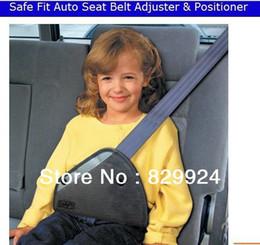 2014Safe fit thickening car safety belt adjust device baby child safety belt protector seat belt positioner on Sale