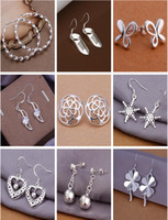 Free shipping Mix style 925 Silver jewelry Charming women gi...