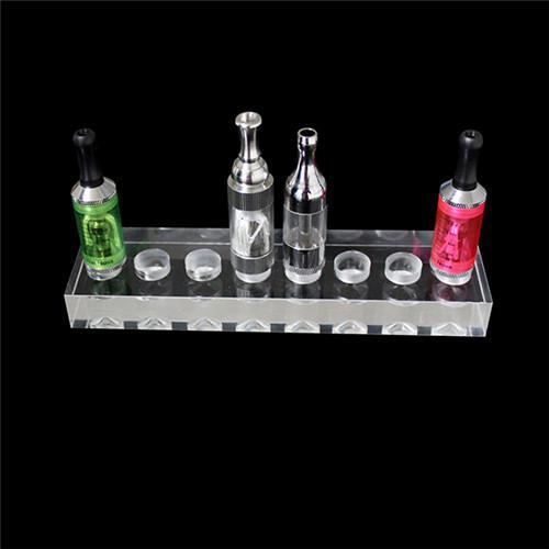 Acrylic e cig display stand showcase smoking vaporizer pen clear standing show shelf holder rotatable rack for atomizer ego battery ecig DHL
