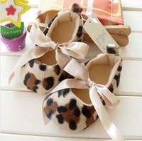 Wholesale Wholesale Zebra Print Flowers - Wholesale - mixed 16designs baby leopard zebra print roses flower prewalker shoes todders girls hot pink shoes