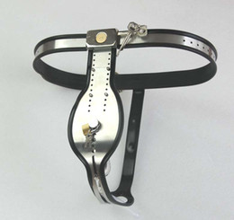 Wholesale Chastity Belts Plastic - hot sale Male Adjustable Model-T Stainless Steel Chastity Belt With plastic catheter see