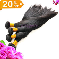 Wholesale Off Virgin Hair - 20% OFF!100% Brazilian Virgin Remy Human Weaves Hair Weft 3pcs lot 8-30 Inches Straight Natural Color Queen Hair Weft, Fast Free Shipping!!