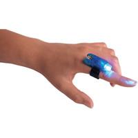 rot grün blau fackel licht großhandel-LED Bright Blue / Grün / Weiß / Rot Finger Fackel Licht - Nachtclub Rave Disco Dance Party Spielzeug Weltmeisterschaft
