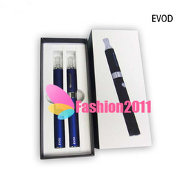 Wholesale Ego Kits Two Battery - E Cigarette EVOD Kit Double EVOD starter kit Evod Batery TWO ego battery and MT3 EVOD Atomizer E Cig 002015