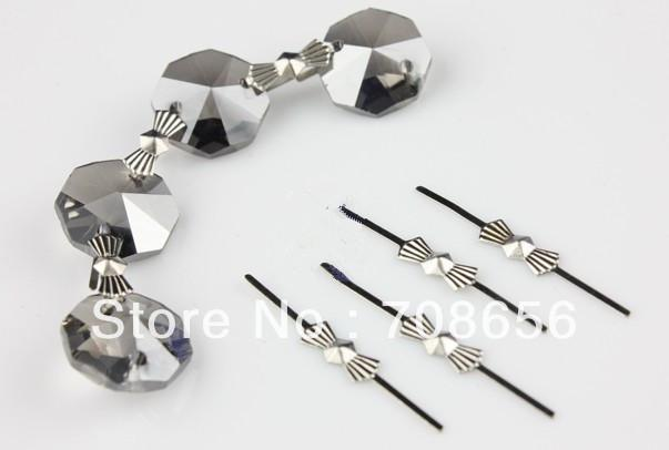 2019 40mm Chrome Chandelier Parts Lamp Crystal Prism Bead