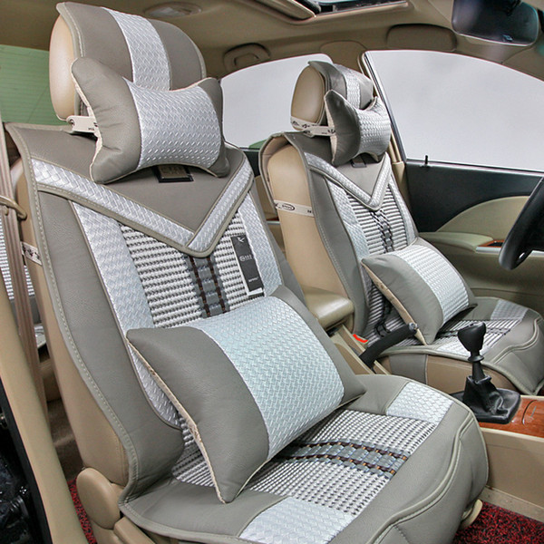 Astounding P02 2 High End V Shaped Ice Silk Bamboo Hand Woven Imitation Leather Car Seat Cover Automotive Car Seat Covers Automotive Car Seats From Lily Feng Machost Co Dining Chair Design Ideas Machostcouk