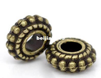 Wholesale Toning Wheel - Free Shipping 100pcs Antique Bronze Tone Wheel Spacer Beads Findings 8x3mm Jewelry Findings making DIY wholesale