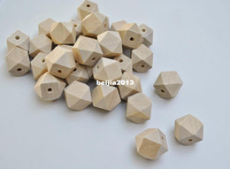 natural wood bead spacer Canada - Free shipping! 100pcs lot 10-20mm natural unfinished geometric wood spacer beads jewelry  DIY wooden necklace making findings DIY