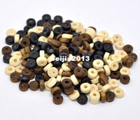 Wholesale 8mm Round Wood Beads - Free Shipping 3000pcs lot Mixed Rondelle Wood Spacer Beads 8mm jewelry making findings wholesale DIY hot sale