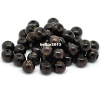 Wholesale Coffee Round Wood Spacer Beads x6mm jewelry making DIY findings hot sale fit bracelet necklace