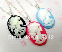"""Wholesale vintage cameo necklaces - Free Shipping 6 Strands NKY LARGE SKELETON CAMEO 18"""" NECKLACE GOTHIC EMO PUNK SKULL DARK VINTAGE STEAMPUNK"""