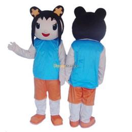 Wholesale Custom Lan - Fancytrader Hot Sales Ni Hao Kai Lan Mascot Costume Cartoon Costume Character Costume Free Shipping FT20083