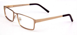 Wholesale Lens China - fashion eyewear Business eyeglasses frame mens full glasses for men alloy gold color big szie optical eye glasses by china