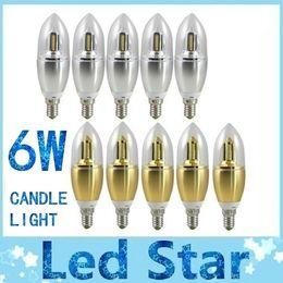 Discount led cree lamp bulb 6w - E14 6W LED Blunt Tip Candle Light 40 LED 3014SMD Bulb Warm Cool White Energy-saving Lamp 85-265V