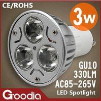 Wholesale Mr16 Led Warranty - Free Shipping CREE 3W Led bulbs Led Spotlight AC85~265V E27 GU10 GU5.3 MR16(DC12V) Cool white Warm white 2 Years Warranty
