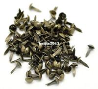 Wholesale Scrapbooking Paper Brads - Free Shipping 500pcs Bronze Tone Round Brads Scrapbooking Embellishment 9x5mm