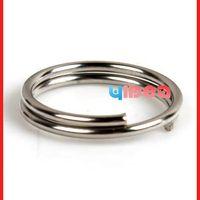 Wholesale copper loop - Wholesale - 1800pcs Key Ring Chains Key Chain Rings Copper Open Jump Rings Loop Findings 10mm 160389