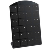 Wholesale Acrylic jewelry holder organizer acrylic earring display cm black and clear color for choice sold by