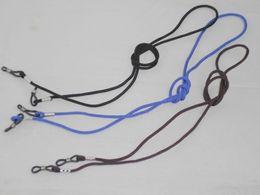 Discount nylon cord strap - Nylon Eyeglass Holder Cord Sunglass Glasses Eyewear Neck Strap 3 Colors Black Blue Brown Free Shipping Cheap Price