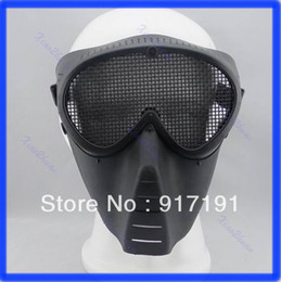 $enCountryForm.capitalKeyWord NZ - 2013 Free Shipping Paintball Airsoft Gear Full Face Eyes Nose Wear Protector Safety Guard Mesh Mask
