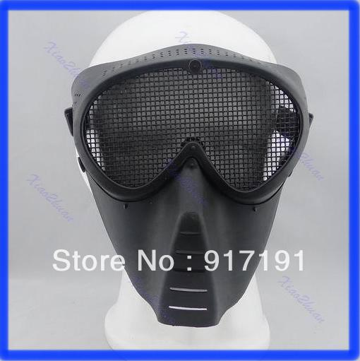 2013 Free Shipping Paintball Airsoft Gear Full Face Eyes Nose Wear Protector Safety Guard Mesh Mask
