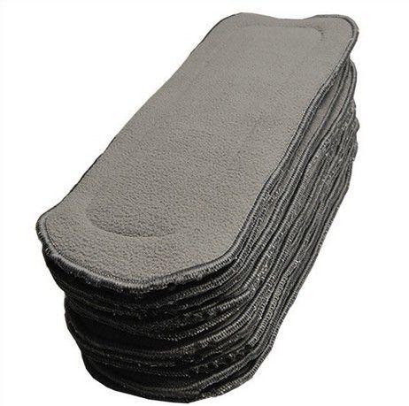 الشحن مجانا فيديكس الفحم الخيزران 20 قطع 5 طبقات 3 + 2 الخيزران الفحم بطانة / insers / معززة للقماش قابلة لإعادة الاستخدام الحفاض / حفاضات المبيعات الساخنة