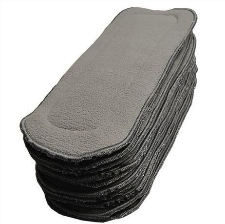 Ny Gratis frakt Fedex Charcoal Bamboo 5 lager 3 + 2 Bambu kol liner / insatser / boosters för tyg återanvändbar blöja / blöja