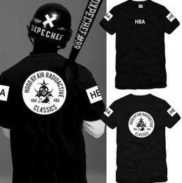 $enCountryForm.capitalKeyWord NZ - Free shipping Chinese Size S--XXXL summer t-shirt HBA t shirt Hood By Air HBA RADIOACTIVE CLASSICS tee shirt 100% cotton 6 color