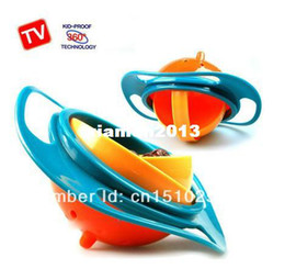 Wholesale Snack Bowls - Gravity Bowl Spill Resistant Kids Snack Food Dish+Lid No Mess Dishwasher Free Shipping
