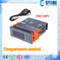 Wholesale Digital Thermostats - 200-240V Digital LCD Thermostat Regulator Temperature Controller Thermocouple Free Shipping wu