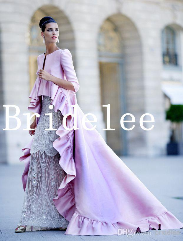 Lilac Purple Coat Pink Coats Ruffles 2016 Wedding Dresses Jackets Satin  Long Sleeve Bridal GownsLilac Purple Coat Pink Coats Ruffles 2016 Wedding Dresses Jackets  . Dress With Jacket For Wedding. Home Design Ideas