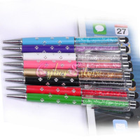 Wholesale Diamond 4s - Flower Diamond Rhinestone Bling Capacitive 2 in 1 Touch Stylus Pen For ipad iphone Samsung 4 4S 5 5S Tablet